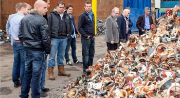 Open huis in de scrap metals shredder van HKS